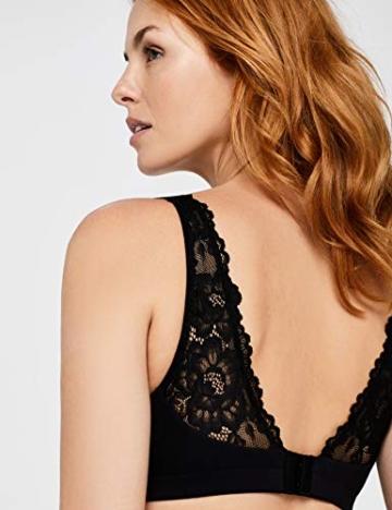 Amazon-Marke: Iris & Lilly Damen Comfort Weicher BügelloserSchlaf-BH, Schwarz (Black Beauty),  Medium - 4