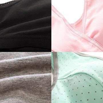 Bllatta Still-BH (4 Stück) auch als Schlaf-BH geeignet (Black+Pink+Grey), M/L - 4