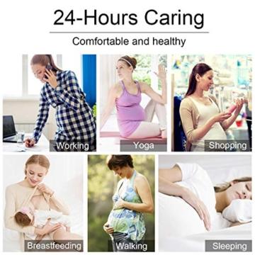 heekpek Damen Schwangerschafts Still Schlaf BH, Still-BH Bustier für die Nacht Stillen und Schlafen, Mit Abnehmbaren Untersetzer Nahtlos Ohne Bügel - 3
